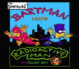 Simpsons: Bartman Meets Radioactive Man NES Screenshot Screenshot 1