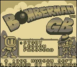 Bomberman GB Gameboy Screenshot Screenshot 1