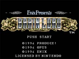 Brain Lord SNES Screenshot Screenshot 1