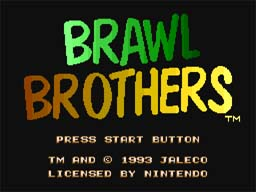 Brawl Brothers SNES Screenshot Screenshot 1