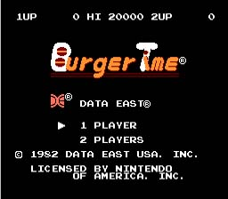 Burger Time NES Screenshot Screenshot 1