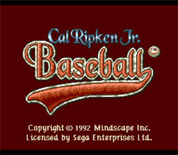 Cal Ripken Jr. Baseball Genesis Screenshot Screenshot 1