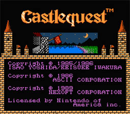 Castle Quest NES Screenshot Screenshot 1