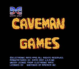 Caveman Games NES Screenshot Screenshot 1