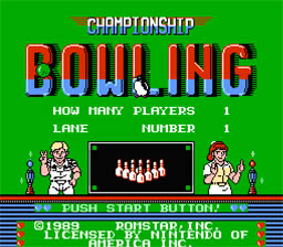 Championship Bowling NES Screenshot Screenshot 1