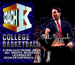 Coach K College Basketball Genesis Screenshot Screenshot 1