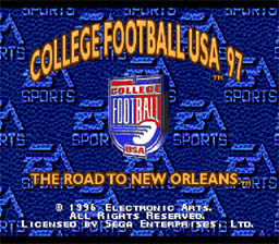 College Football USA 97 The Road to New Orleans Genesis Screenshot
