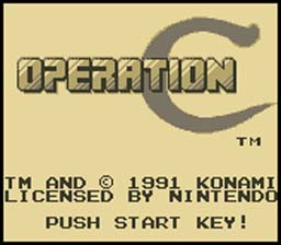 Contra Operation C Gameboy Screenshot 1