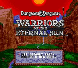 D&D: Warriors of the Eternal Sun Sega Genesis Screenshot 1