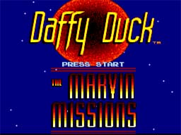 Daffy Duck The Marvin Missions Super Nintendo Screenshot 1
