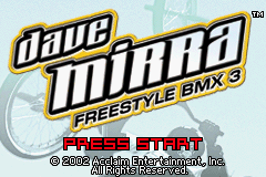 Dave Mirra Freestyle BMX 3 GBA Screenshot Screenshot 1
