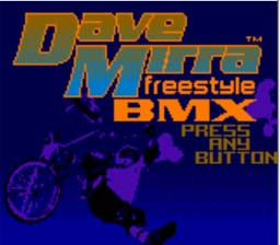 Dave Mirra Freestyle BMX Gameboy Color Screenshot 1