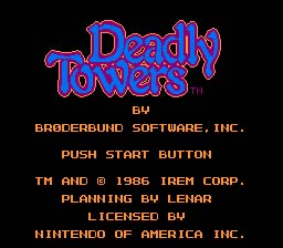 Deadly Towers NES Screenshot Screenshot 1