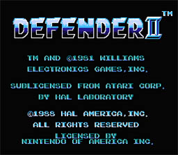 Defender 2 NES Screenshot 1