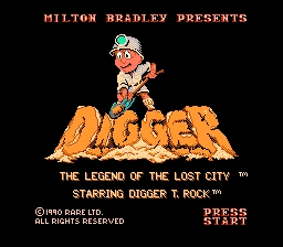 Digger T. Rock NES Screenshot Screenshot 1