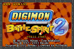 Digimon Battle Spirit 2 GBA Screenshot Screenshot 1