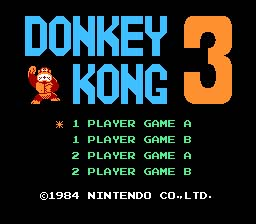 Donkey Kong 3 NES Screenshot Screenshot 1