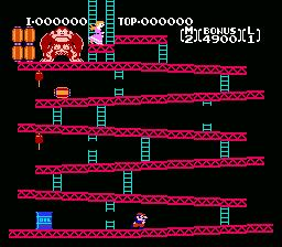 Donkey Kong Classics NES Screenshot Screenshot 1