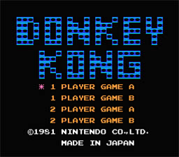 Donkey Kong NES Screenshot Screenshot 1