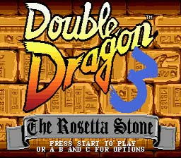 Double Dragon 3: The Arcade Game Sega Genesis Screenshot 1