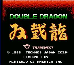 Double Dragon NES Screenshot Screenshot 1