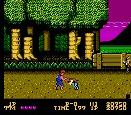 Double Dragon NES Screenshot Screenshot 2