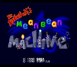 Dr. Robotnik's Mean Bean Machine Genesis Screenshot Screenshot 1