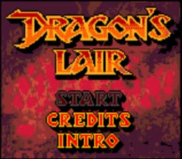 Dragon's Lair Gameboy Color Screenshot 1