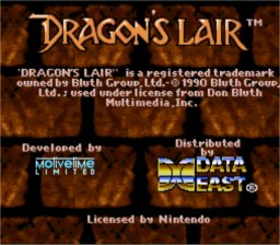 Dragon's Lair Super Nintendo Screenshot 1