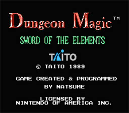 Dungeon Magic: Sword of the Elements NES Screenshot Screenshot 1