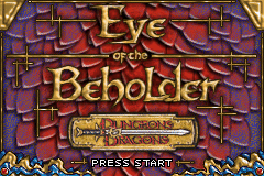 Dungeons and Dragons Eye of the Beholder screen shot 1 1