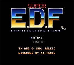 Earth Defense Force SNES Screenshot Screenshot 1