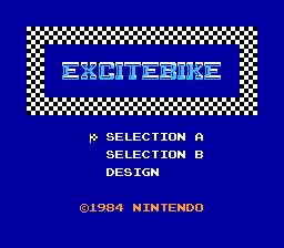 Excite Bike NES Screenshot Screenshot 1