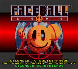 Faceball 2000 SNES Screenshot Screenshot 1