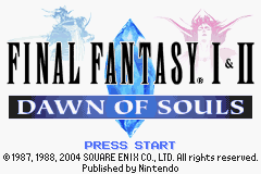 Final Fantasy 1 & 2: Dawn of Souls GBA Screenshot Screenshot 1