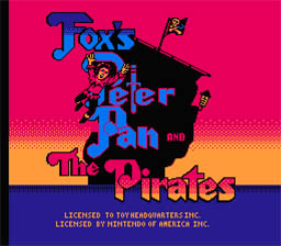 Fox's Peter Pan and the Pirates NES Screenshot Screenshot 1