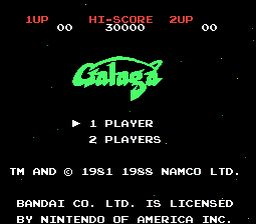 Galaga NES Screenshot 1
