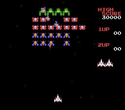 Galaga NES Screenshot Screenshot 2