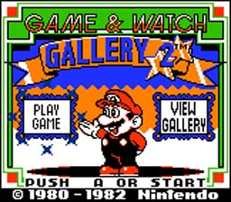 Game and Watch Gallery 2 GBC Screenshot Screenshot 1