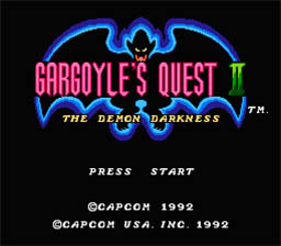 Gargoyle's Quest 2 NES Screenshot Screenshot 1