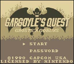 Gargoyles Title Screen