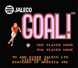 Goal! NES Screenshot 1