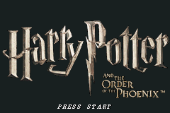 Harry Potter and the Order of the Phoenix GBA Screenshot Screenshot 1