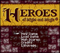Might and Magic: Heroes of Might and Magic Gameboy Color Screenshot 1