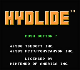 Hydlide NES Screenshot Screenshot 1