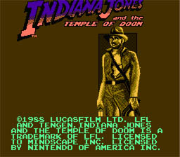 Indiana Jones and the Temple of Doom NES Screenshot 1