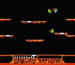 Joust NES Screenshot Screenshot 2
