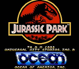 Jurassic Park NES Screenshot Screenshot 1