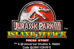 Jurassic Park Part 3: Island Attack GBA Screenshot Screenshot 1
