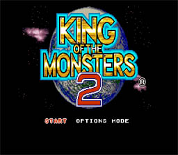 King of the Monsters 2 Super Nintendo Screenshot 1
